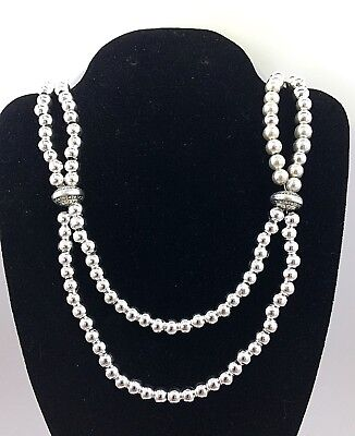 Southwest Silver Bead Necklace Handcrafted No Reserve *G14