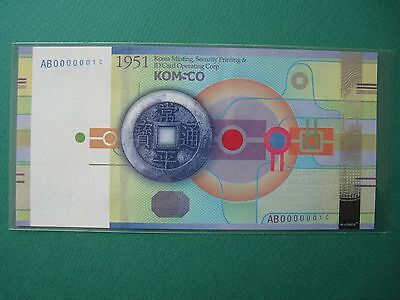 2011 S.korea Test Note Nongak Komsco Au Condition -Wrinkle