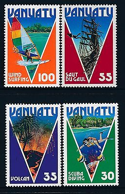 1986 Vanuatu Tourism Set Of 4 Fine Mint Mnh/muh
