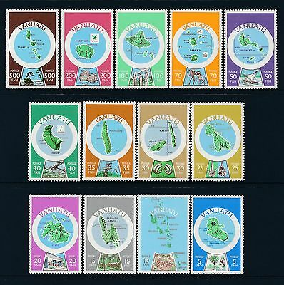 1980 Vanuatu Maps Definitives (English) Set Of 13 Fine Mint Mnh/muh