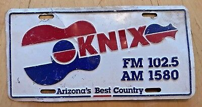 Arizona Knix Fm 102.5 And 1580 Am Country Radio Station  Front License Plate