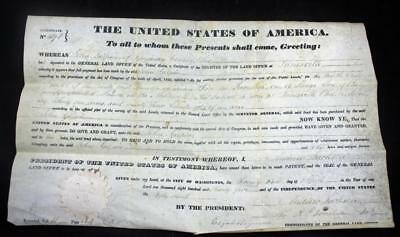 1835 Land Grant ANDREW JACKSON President of the United States USA Americana