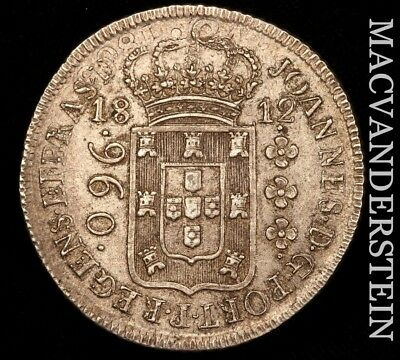 Brazil: 1812 (960-Reis)- Struck Over An 1808 Bolivian Eight Reales!! Au!! #v9464