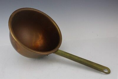 Antique Copper Brass Handle Country Kitchen Cooking Cookware Chocolate Pot NR