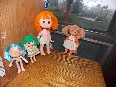 Hong Kong Small Doll Lot Yarn Hair Vintage