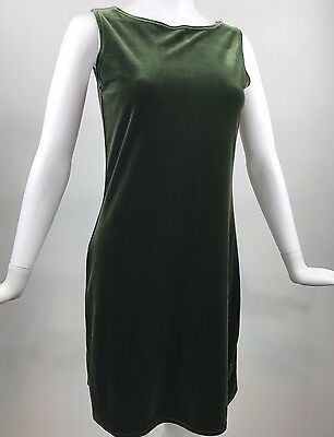 VTG Velvet Dress 90s Mini Dress Green Velvet Small Medium Grunge 1990s