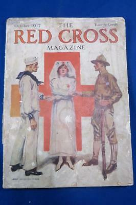 Vintage 1917 The Red Cross Magazine James Montgomery Flagg Cover