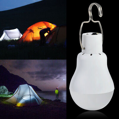 Solar Panel Powered LED Bulb Light Portable Outdoor Camping Tent Energy Lamp Hot