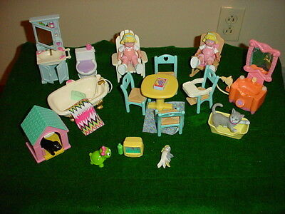 Fisher Price Loving Family dollhouse Furniture, Twin Girls, Pets, etc.