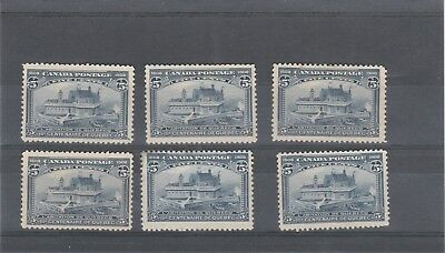 CANADA 1908 KEVII 6 X SG191 5c BLUE CHAMPLAINS HOUSE MINT STAMPS