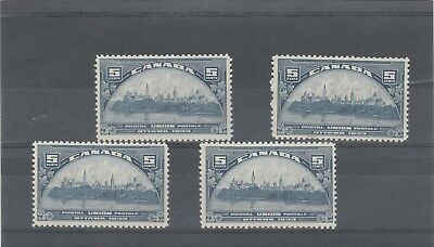 CANADA 1933 KGV 4 X SG329 5c BLUE UPU CONGRESS MINT NO HINGED STAMPS