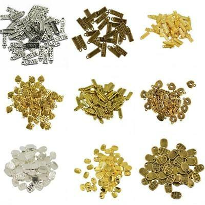 50pcs MADE WITH LOVE Heart Beads Charms Pendant For Jewelry Making Accessories