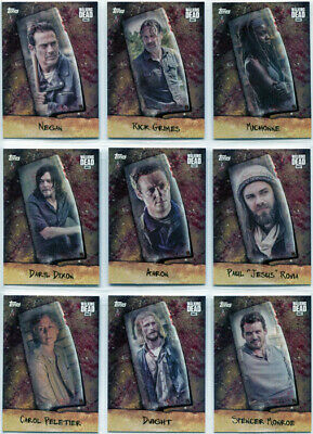 Walking Dead Season 7 Chop Complete 9 Card Chase Set CHOP-1 to CHOP-9