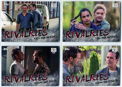 Walking Dead Season 7 Rivalries Complete 4 Card Chase Set R-1 to R-4