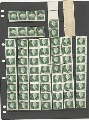 CANADA 1962 QEII SG528 2c GREEN LOVELY SELECTION OF MINT NO HINGED STAMPS