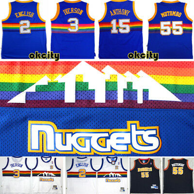 Denver Nuggets NBA Throwback Swingman Jersey Stitched Basketball Top Singlet