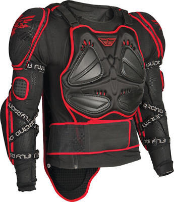 Fly Racing Barricade Long Sleeve Body Armor Suit Black/Red Large