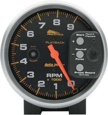 "Auto Meter 5"" Playback Tachometer Black Face"