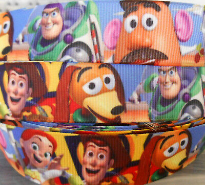 """TOY STORY BUZZ WOODY JESSIE Grosgrain Ribbon 7/8"""" Clip Cake Card 2 or 5 yds DCD"""