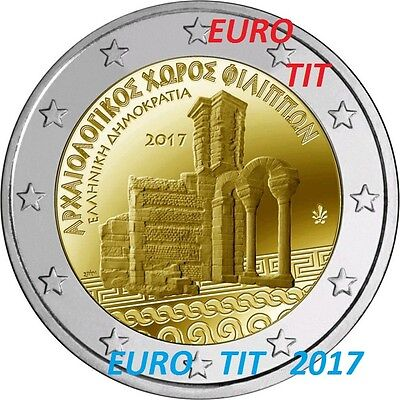 2 €  Grece  2017   1  X  Piece  Commemorative Site Filipos  2017 /  2017 Nouveau