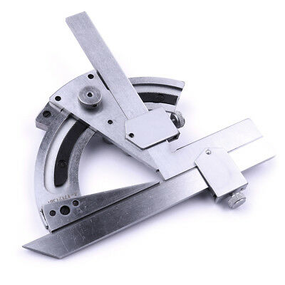 STAINLESS Angular Laser Engraving Scales 320° Angle Ruler Bevel DIAL Protractor