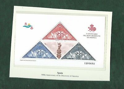 Sweden Spain Netherlands Nicaragua Ships Columbus stamps and minisheets mint MNH