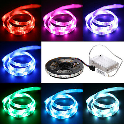 1M/2M RGB LED Strip luce di striscia TV Background lampada Con Scatola batteria