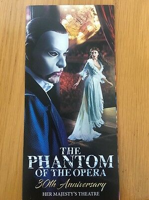 Phantom Of The Opera 30th Anniversary Her Majesty's Theatre LEAFLET FLYER NEW