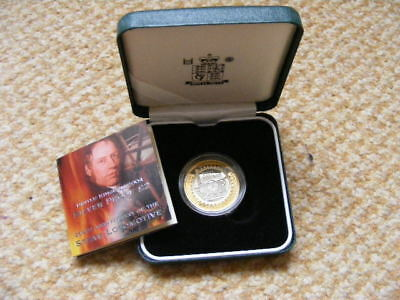 Royal Mint Silver Proof £2 Coin 2004 200th Anniversary Steam Locomotive + C.O.A