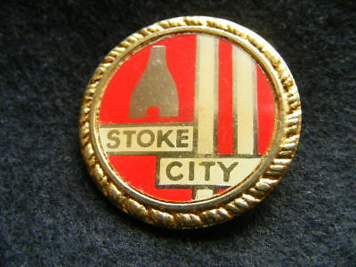 Vintage Stoke City enamel metal badge.