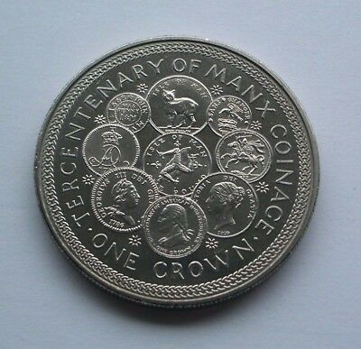 1979 Tercentenary Of Manx Coinage Crown - Isle Of Man Coin