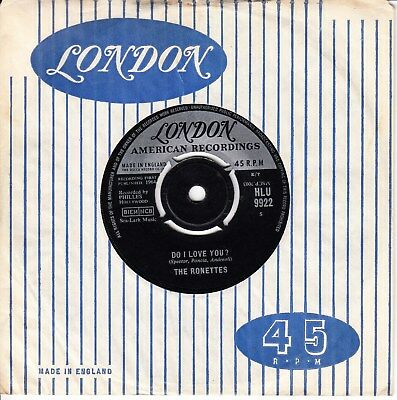 The Ronettes *do I Love You/ When I Saw You* 1964 Uk London  N Soul