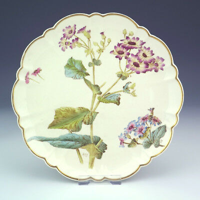 Antique George Jones Pottery - Flower Decorated Aesthetic Movement Plate - Nice!