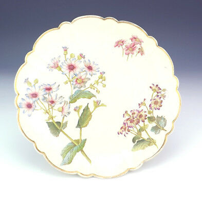 Antique George Jones Pottery - Flower Decorated Aesthetic Movement Tazza - Nice!