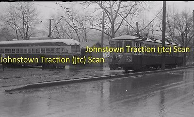Johnstown Traction Company (Pa) Original B&w Trolley Negative Of Car 302 In 1947