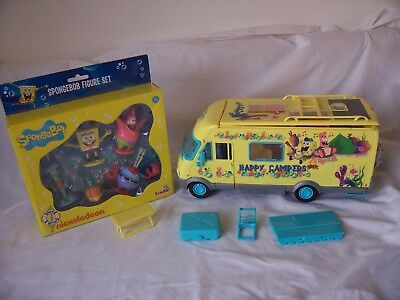 Spongebob Squarepants  Bundle Camper and New Packet of Figures  Children's Toy