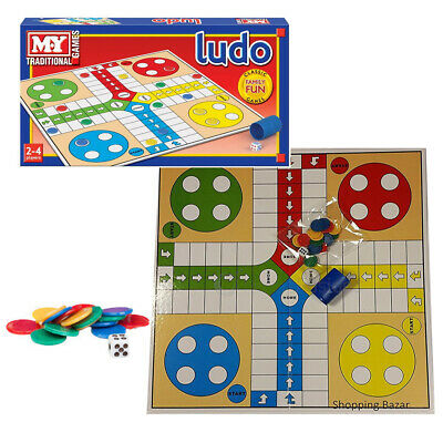 Traditional Ludo/Snakes Ladders Board Game Family Fun Kids Classic Travel Party