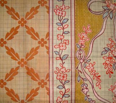 BEAUTIFUL ANTIQUE 19th CENTURY HAND PAINTED FRENCH JACQUARD DESIGN CARTOON