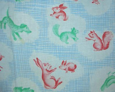 BEAUTIFUL VINTAGE FRENCH 1940s/50s CHILDREN'S FABRIC, PROJECTS REF