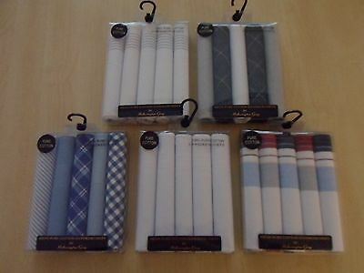 5 Pack Mens Handkerchiefs - Assorted Designs