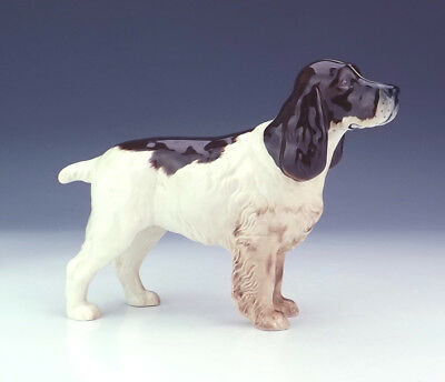 Beswick Pottery - Hand Painted Liver & White Spaniel Dog Figure - Nice!