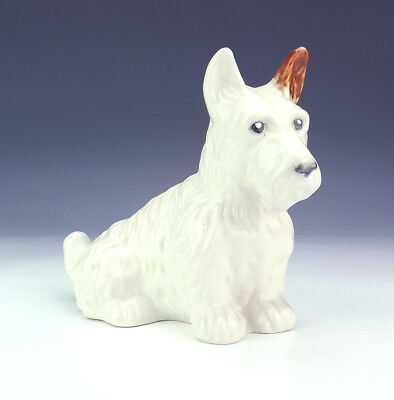 Beswick Pottery - Hand Painted Seated Terrier Dog Figure - Unusual!