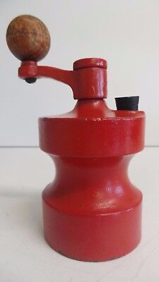 Vintage Cole & Mason Robert Welch Salt Mill Grinder Cast Iron in Bright Red