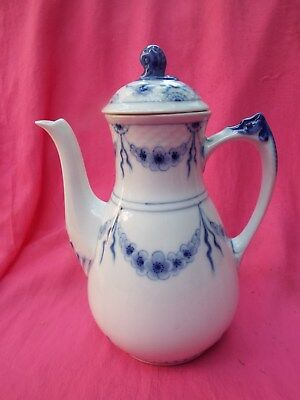 BING & GRONDAHL Copenhagen Coffee Pot 91A EMPIRE Blue & White Large