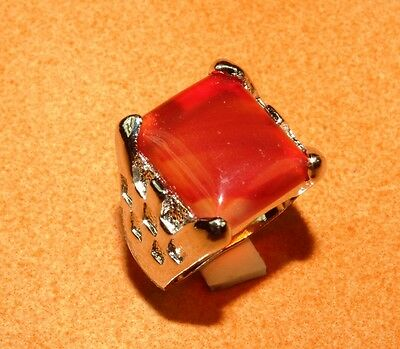 IMY20-122 Free Shipping Carnelian With CZ Marvelous Silver Jewelry Ring Size.10""