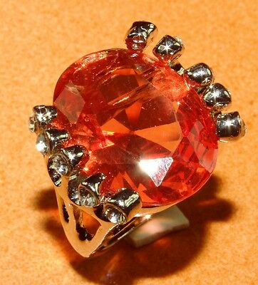 IMY18-106 Free Shipping Carnelian With CZ Beautiful Silver Ring Size 10.25''