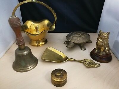 Various Vintage Brass Ornaments