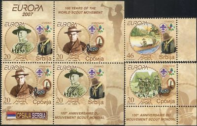 Serbia 2007 Europa/Scouts/Scouting/Baden-Powell/People/Youth 4v set + pr  b3587b
