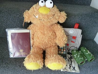 BNWT Chad Valley Design A Bear Cool Dudes Monster Plush Soft Toy & Accessories