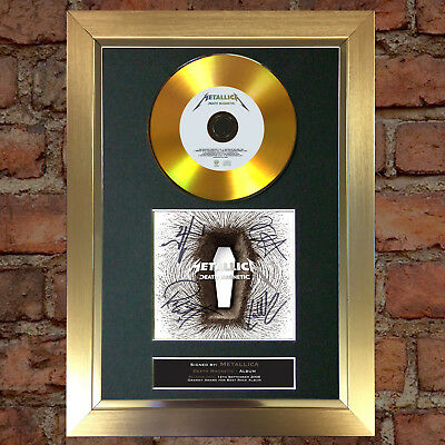 GOLD DISC METALLICA Death Magnetic Signed Autograph Mounted Photo Repro A4 #78
